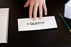 resignation - stock photo