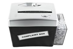 Complaint box shredder isolated Stock Photos