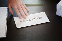 you're fired - stock photo