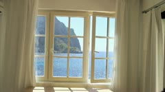Mediterranean window 2 Stock Footage