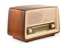 brown retro radio - stock photo
