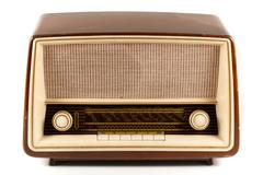 Brown retro radio Stock Photos