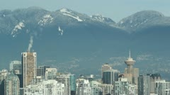Vancouver skyline with tall towers. Stock Footage