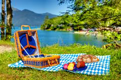 bavarian outdoor picnic - stock photo