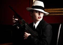 mafia bride - stock photo