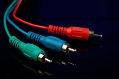 cinch video component cable - stock photo