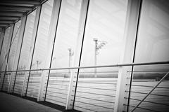 Airport gangway Stock Photos