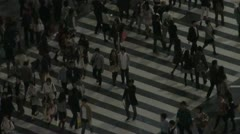Shibuya crossing at night, zoom out Stock Footage