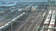 Stock Video Footage of Train station, Tokyo, time lapse, motion, transportation, Japan