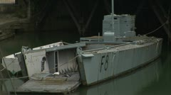 WW2 Landing craft Stock Footage