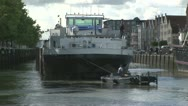 Barge and workboat Stock Footage