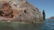 Stock Video Footage of eolian island coast 06