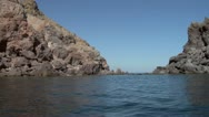 Stock Video Footage of eolian island coast 07