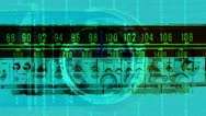 Vintage radio receiver, frequency dial moving Stock Footage