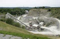 gravel mill - stock photo
