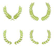 Green wreaths Stock Illustration