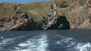Stock Video Footage of eolian island sea wake 03