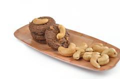 homemade cashew nut cookies - stock photo