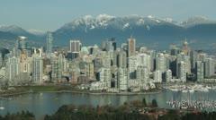 Vancouver skyline. Stock Footage