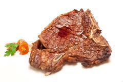 T-bone beef steak Stock Photos