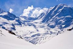 the swiss alp in switzerland - stock photo