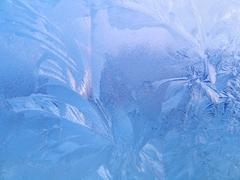 Frozen glass - stock photo