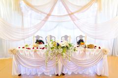 wedding banquet table - stock photo