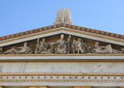 Stock Photo of Pediment in Greek monument