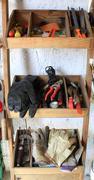 DIY tools in shelves Stock Photos
