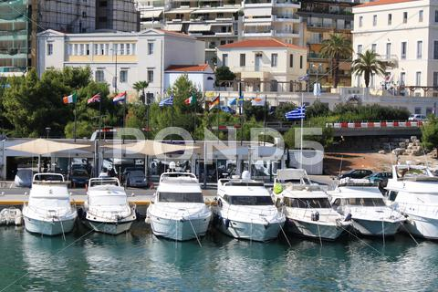 Stock photo of Pasalimani harbour in Piraeus, Greece