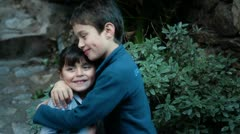 Brother and sister love Stock Footage