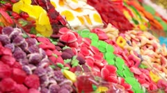 Colorful candies - stock footage