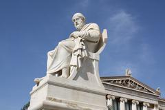 Philosopher Plato in Athens, Greece - stock photo