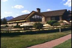 Jasper Park Lodge, Alberta, Canada, main building, no people, wide shot Stock Footage