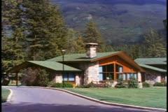 Jasper Park Lodge, Alberta, Canada, individual chalet new style Stock Footage