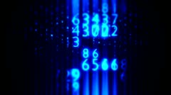 Data with Digital Art 13 Stock Footage