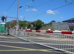 Level crossing - stock photo