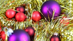 Christmas decorations glittering Stock Footage