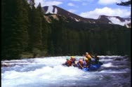 Stock Video Footage of Jasper Park Lodge, Alberta, Canada,  white water rafting, big river rapids
