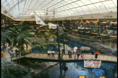 West Edmonton Mall, Edmonton, Alberta, Canada, interior overview Stock Footage