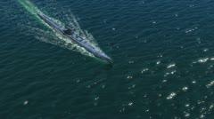 German Submarines in ocean Stock Footage