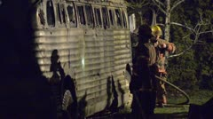Bus Fire 06 Stock Footage