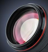 Professional camera lens - stock photo