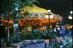 West Edmonton Mall, Edmonton, Alberta, Canada, merry-go-round Stock Footage