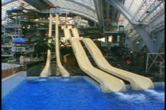 West Edmonton Mall, Edmonton, Alberta, Canada, giant waterslide Stock Footage