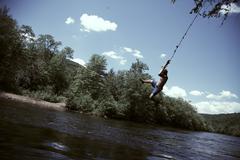 Summer Rope Swing - stock photo