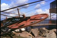 Jasper National Park, Alberta, Canada, Jasper Tramway, big wheel turns Stock Footage