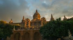 Catalunya National Museum of Art, Barcelona, Spain Stock Footage