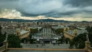 Stock Video Footage of View of Plaza De Espana during day,  Barcelona, Spain