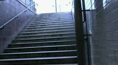 Paris Metro Exit Stock Footage